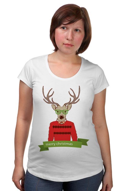Футболка для беременных Printio Christmas deer футболка для беременных printio elements of harmony