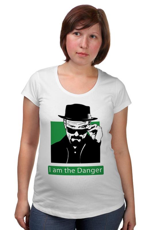Футболка для беременных Printio I am the danger (breaking bad) детская футболка классическая унисекс printio i am the danger breaking bad
