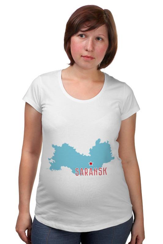 Футболка для беременных Printio Республика мордовия. саранск футболка для беременных printio республика удмуртия ижевск