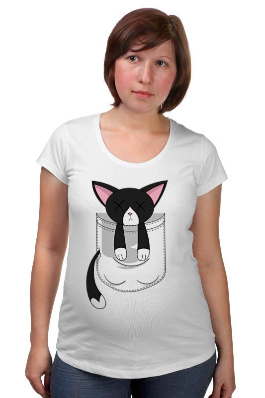 Футболка для беременных Printio Черная кошка футболка для беременных printio elements of harmony