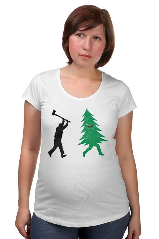 Футболка для беременных Printio За ёлкой футболка для беременных printio держись сильнее за якорь