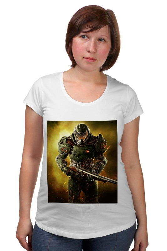 Футболка для беременных Printio Doom 4 футболка для беременных printio elements of harmony