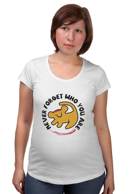 Футболка для беременных Printio Симба (король лев) футболка рингер printio король лев