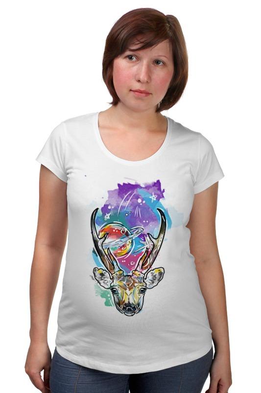Футболка для беременных Printio Олень и космос футболка для беременных printio олень тотем