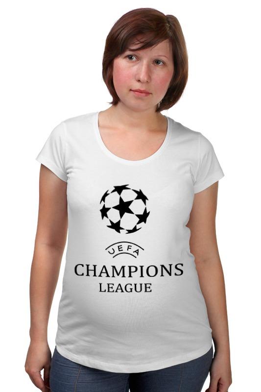Футболка для беременных Printio Лига чемпионов