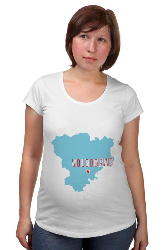 Футболка для беременных Printio Волгоградская область. волгоград авто за 300 тысяч волгоград