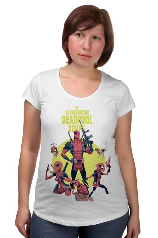 Футболка для беременных Printio Deadpool family футболка для беременных printio elements of harmony