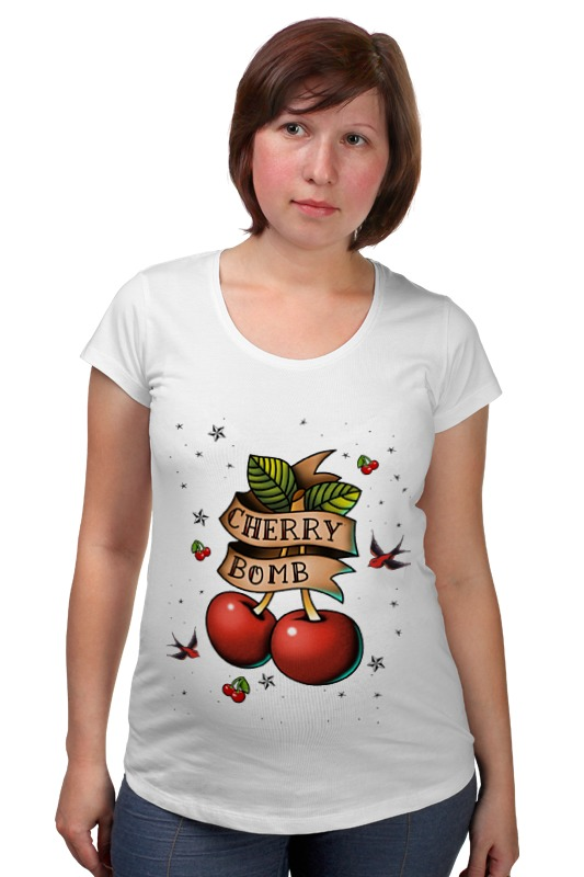 Футболка для беременных Printio Cherry bomb пуф dreambag круг cherry