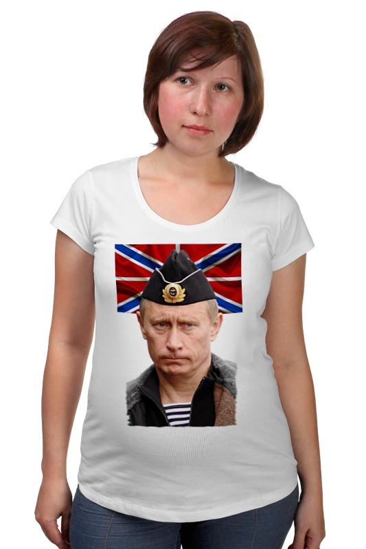 Футболка для беременных Printio Putin товары для беременных