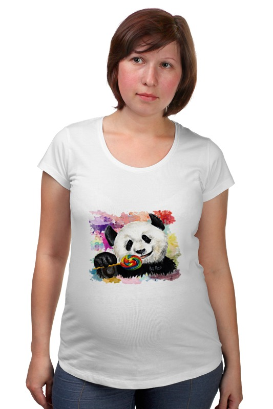 Футболка для беременных Printio Панда с леденцом футболка для беременных printio сладкая жизнь