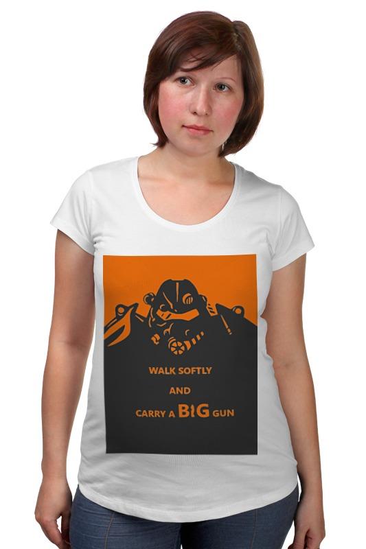 Футболка для беременных Printio Fallout - big gun футболка классическая printio fallout фэллаут