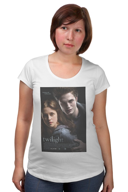 Футболка для беременных Printio The twilight saga / сумерки fanpire the twilight saga and the women who love it