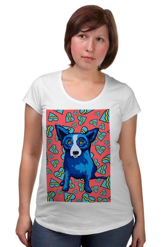 Футболка для беременных Printio Синий пес костюмы для животных ай да пес зайка небесный