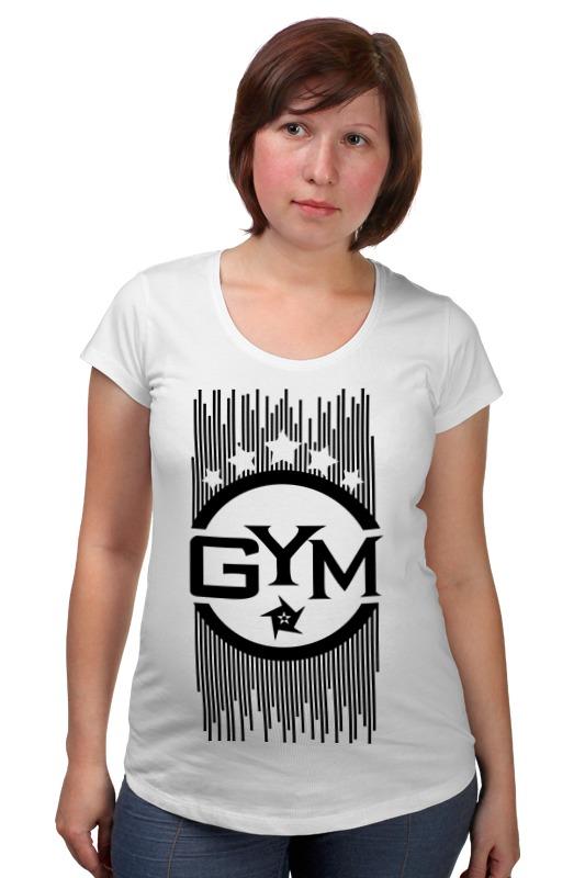 Футболка для беременных Printio !!! gym !!! футболка стрэйч printio спортзал попайя