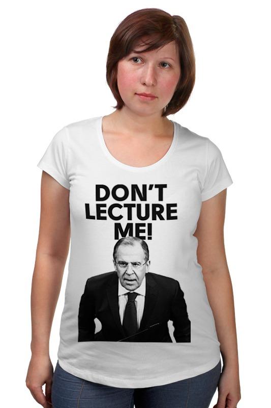Футболка для беременных Printio Don't lecture me! lavrov футболка для беременных printio bring me the horizon