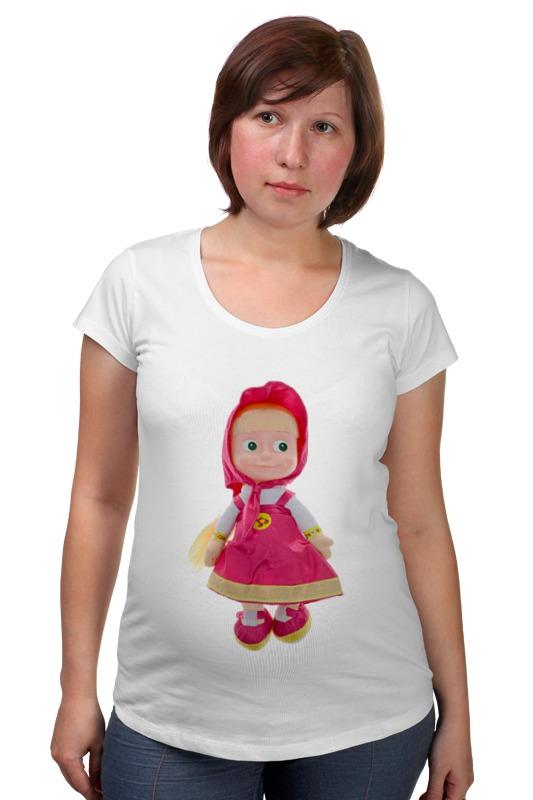 Футболка для беременных Printio Кукла-девочка маша из мульта. смешная озорная.