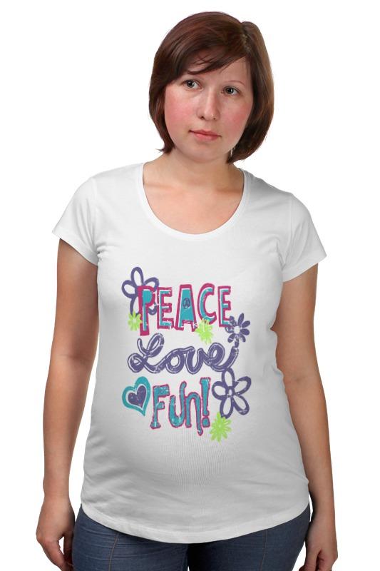 Футболка для беременных Printio Peace fun