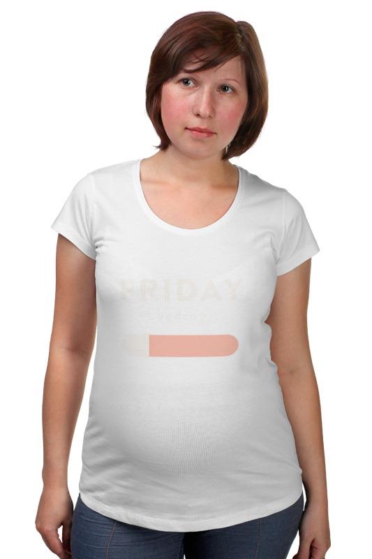 Футболка для беременных Printio Пятница загружается фартук printio пятница