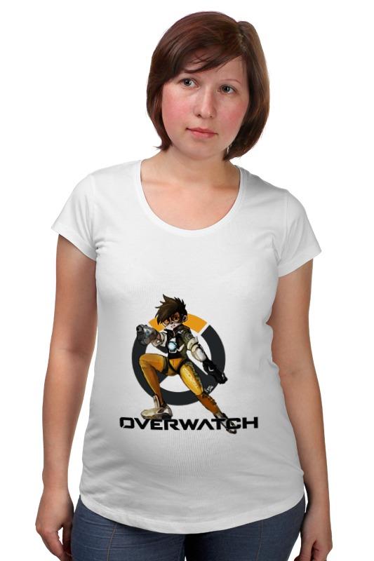 Футболка для беременных Printio Overwatch tracer