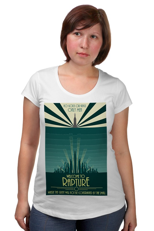 Футболка для беременных Printio Bioshock - only the great футболка для беременных there is only a good mother 00031 2015