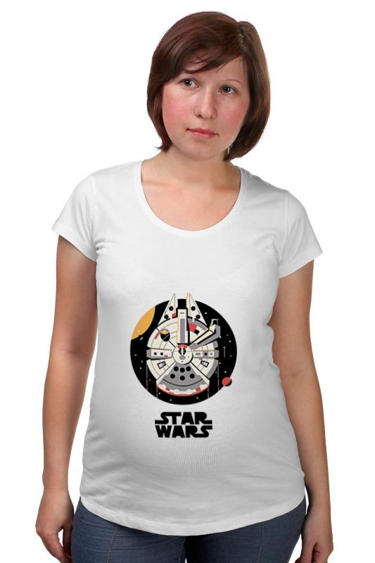 Футболка для беременных Printio Тысячелетний сокол star wars космический корабль тысячелетний сокол