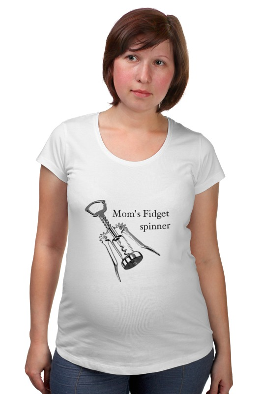 Футболка для беременных Printio Мамочкин спиннер майка классическая printio мамочкин спиннер