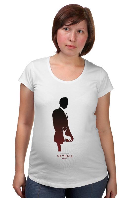"""Футболка для беременных Printio 007: координаты """"скайфолл. футболка для беременных printio property of a lady 007"""