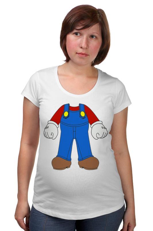 Футболка для беременных Printio Марио товары для беременных