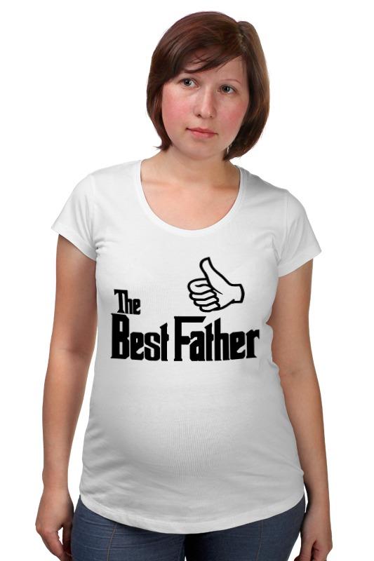 Футболка для беременных Printio The best father, лучший отец футболка для беременных printio bring me the horizon
