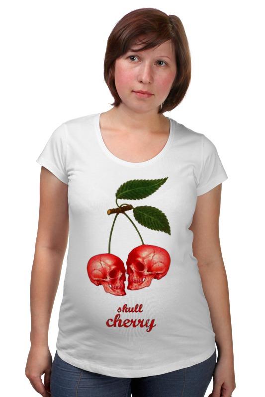 Футболка для беременных Printio skull cherry пуф dreambag круг cherry