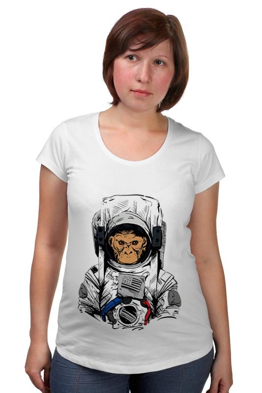 Футболка для беременных Printio Обезьяна космонавт товары для беременных