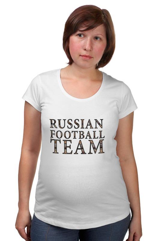 все цены на Футболка для беременных Printio Russian football team онлайн