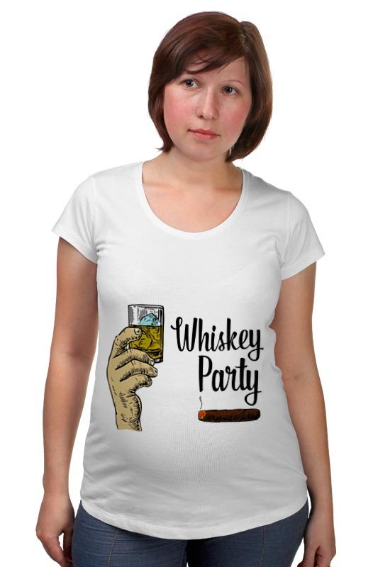Футболка для беременных Printio Whiskey party leaving whiskey bend