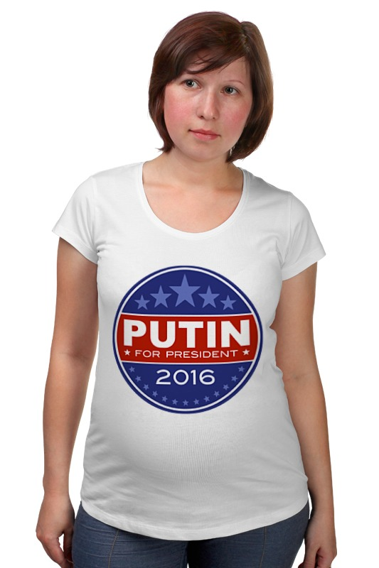 Футболка для беременных Printio Путина в президенты америки (2016) футболка рингер printio путина в президенты америки 2016