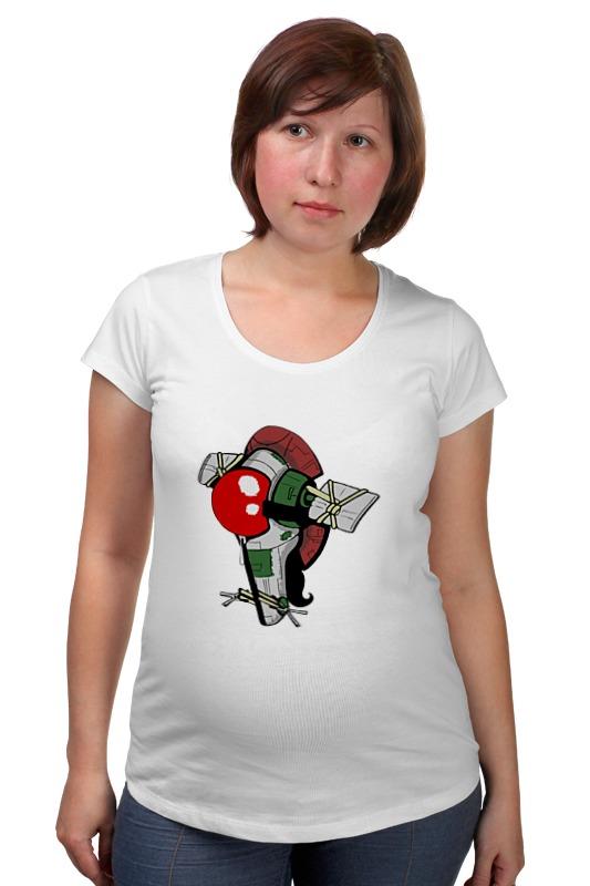 Футболка для беременных Printio Slave i футболка для беременных printio the hamburgers of kazuhira miller