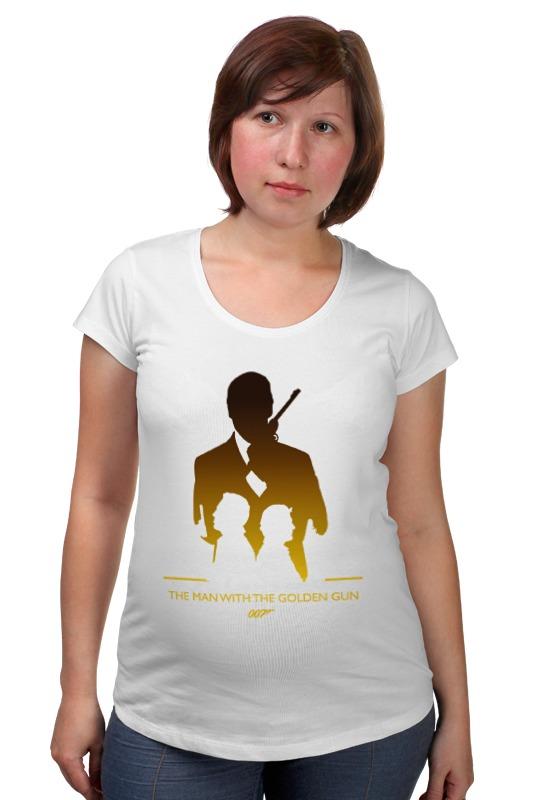 Футболка для беременных Printio 007: человек с золотым пистолетом футболка для беременных printio property of a lady 007