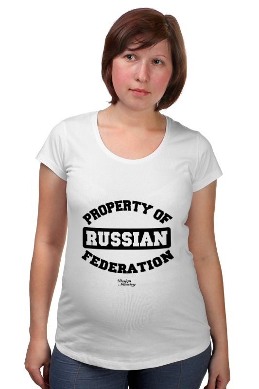 Футболка для беременных Printio Property of russian federation футболка для беременных printio guru of trance