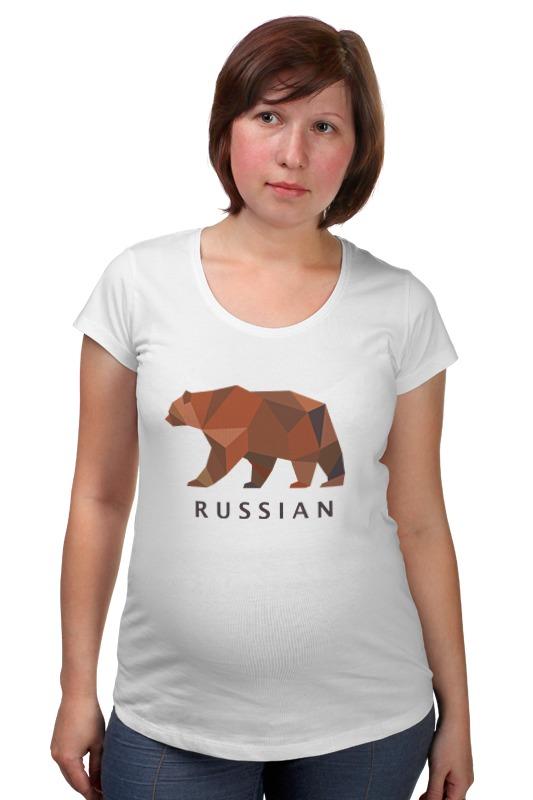 Футболка для беременных Printio Russian футболка для беременных printio putin love russian bear