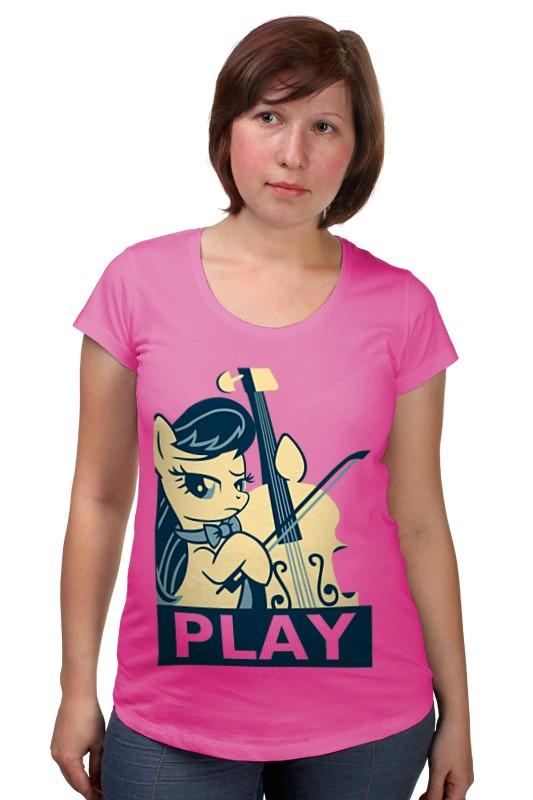 Футболка для беременных Printio Mlp octavia play футболка классическая printio mlp octavia play