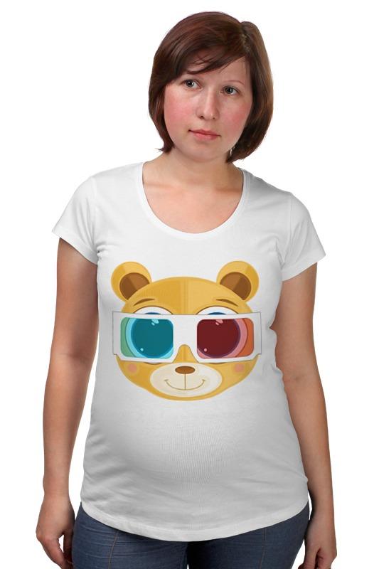 Футболка для беременных Printio Медведь 3д плитка для кухни 3д