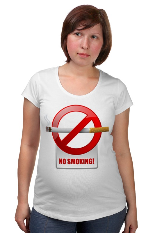 Футболка для беременных Printio No smoking футболка для беременных printio no reason