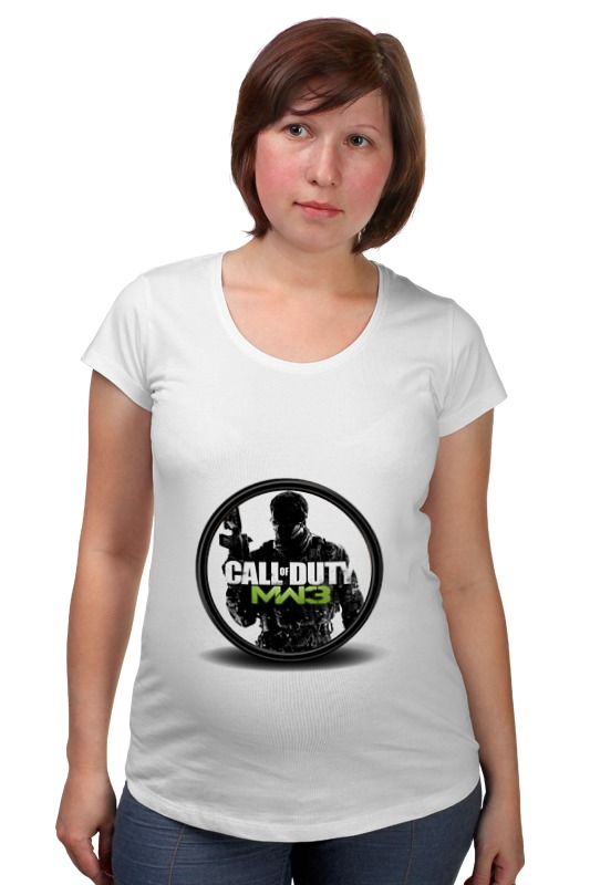 Футболка для беременных Printio Call of duty футболка для беременных printio череп call of duty