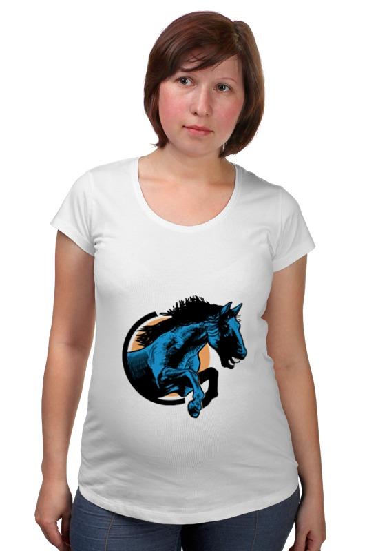 Футболка для беременных Printio Лошадь как правильно лошадь ганновер