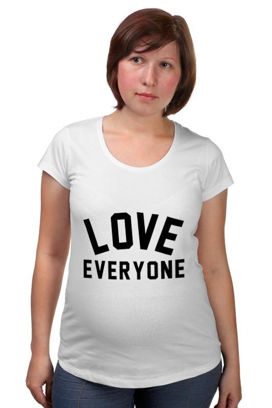 Футболка для беременных Printio Любить всех