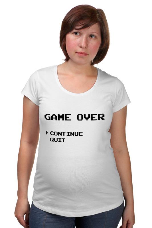 Футболка для беременных Printio Конец игры (game over)