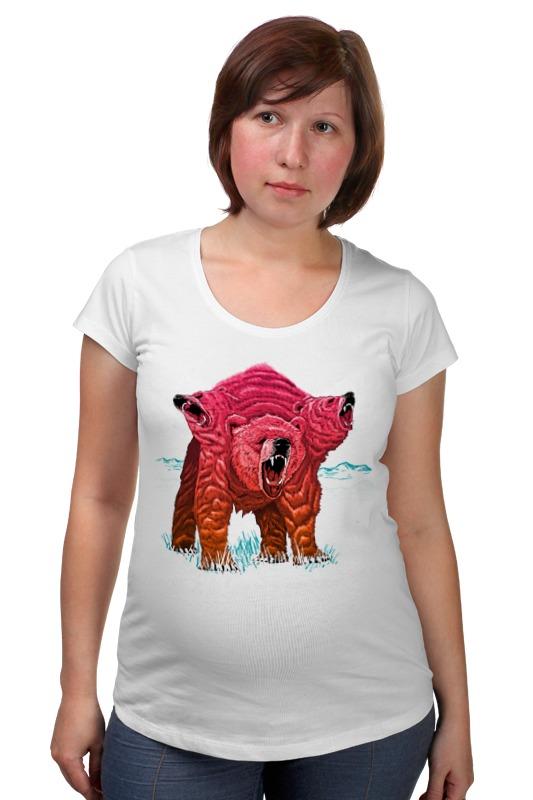 Футболка для беременных Printio Трёхголовый медведь футболка для беременных printio html5