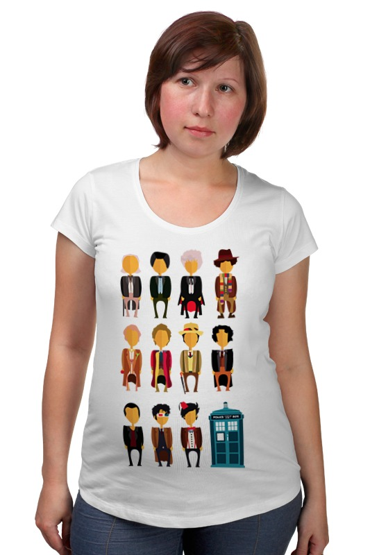 Футболка для беременных Printio Доктор кто (doctor who) футболка рингер printio доктор кто doctor who