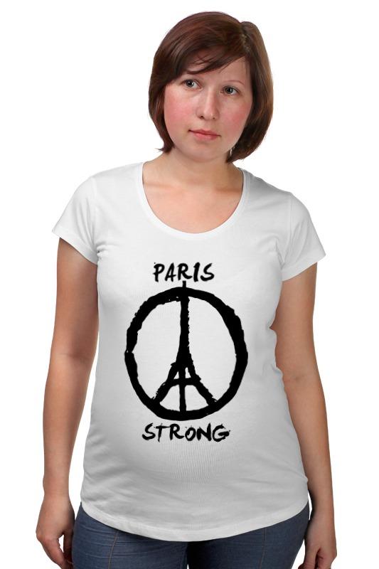 футболка стрэйч printio pray for paris молитесь за париж Футболка для беременных Printio Париж сильный (мир парижу)