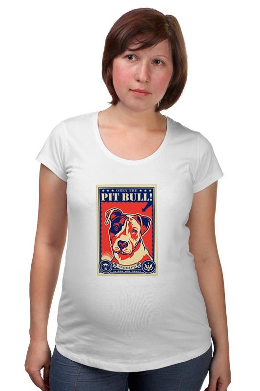 Футболка для беременных Printio Собака: pit bull чартер для всех