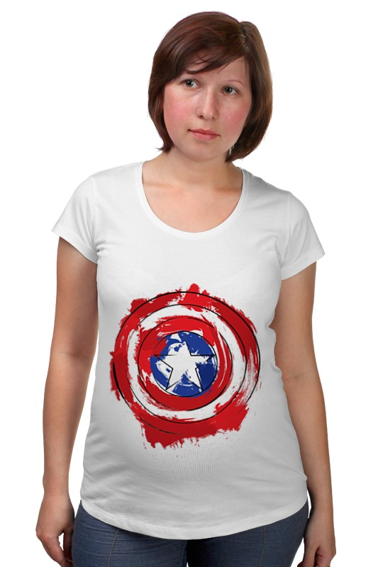 Футболка для беременных Printio Captain america футболка для беременных printio once upon a time in america однажды в америке